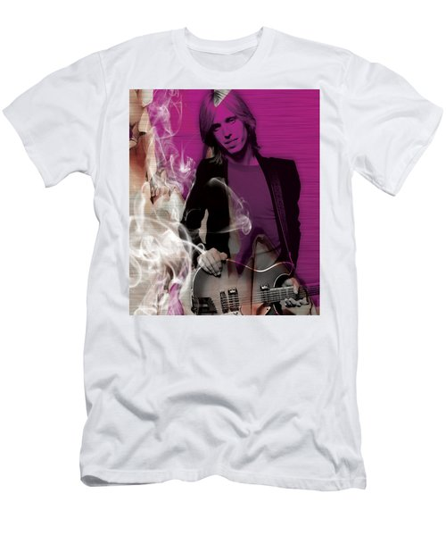 Men's T-Shirt (Athletic Fit) featuring the mixed media Tom Petty Collection by Marvin Blaine