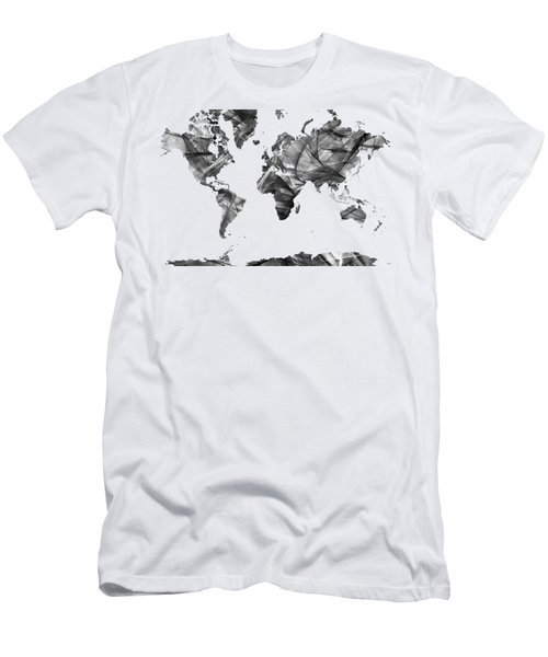 World Map Men's T-Shirt (Athletic Fit)