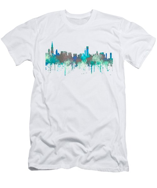 Men's T-Shirt (Slim Fit) featuring the digital art Chicago Illinois Skyline by Marlene Watson