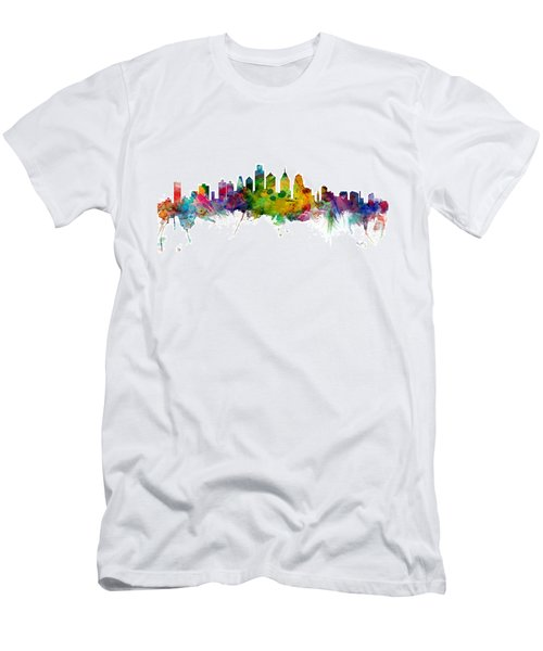 Philadelphia Pennsylvania Skyline Men's T-Shirt (Slim Fit)