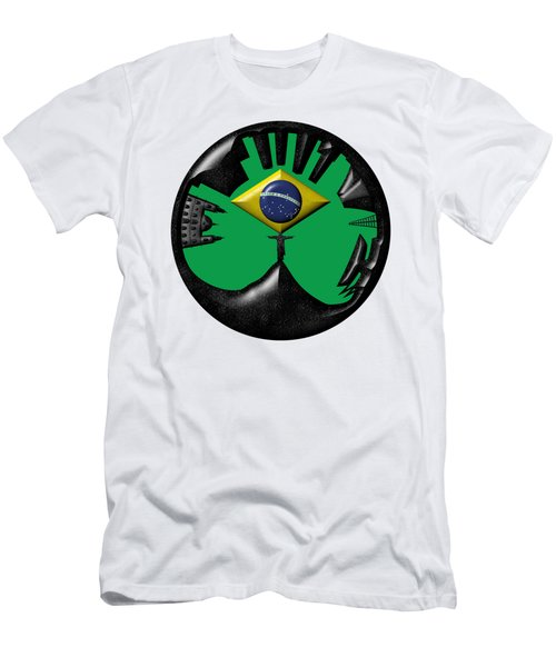 Rio De Janeiro Skyline Men's T-Shirt (Athletic Fit)