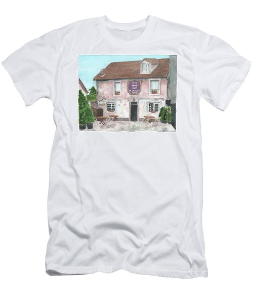 Men's T-Shirt (Athletic Fit) featuring the painting 1775 Cafe De La Place by Betsy Hackett