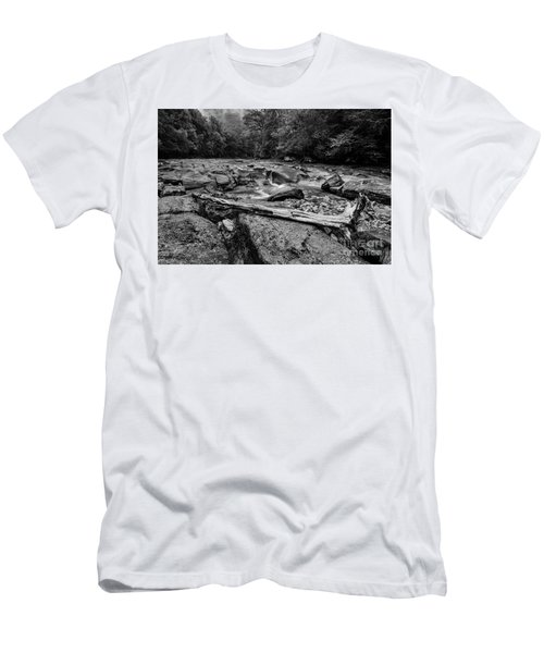 Men's T-Shirt (Slim Fit) featuring the photograph Williams River Summer by Thomas R Fletcher