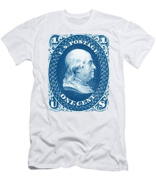 1861 Benjamin Franklin Stamp Men's T-Shirt (Athletic Fit)