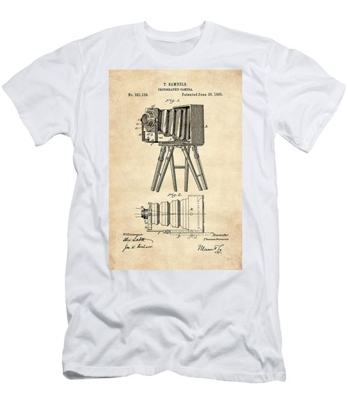 1885 Camera Us Patent Invention Drawing - Vintage Tan Men's T-Shirt (Athletic Fit)