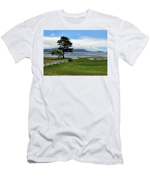 18th At Pebble Beach Horizontal Men's T-Shirt (Athletic Fit)