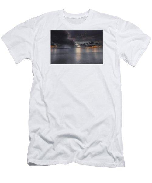 Sunst Over The Ocean Men's T-Shirt (Slim Fit) by Peter Lakomy