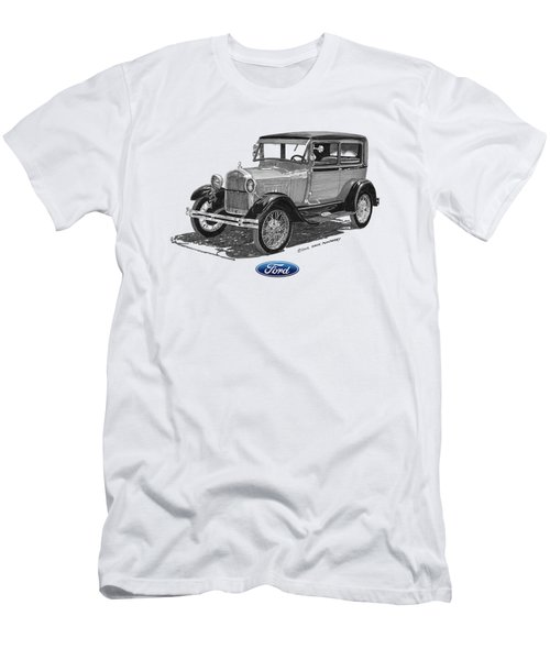 Model A Ford 2 Door Sedan Men's T-Shirt (Athletic Fit)