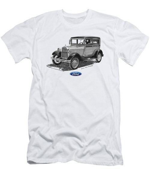 Model A Ford 2 Door Sedan Men's T-Shirt (Athletic Fit)
