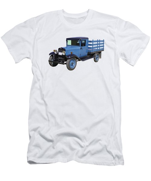 1929 Blue Chevy Truck 1 Ton Stake Body Men's T-Shirt (Athletic Fit)