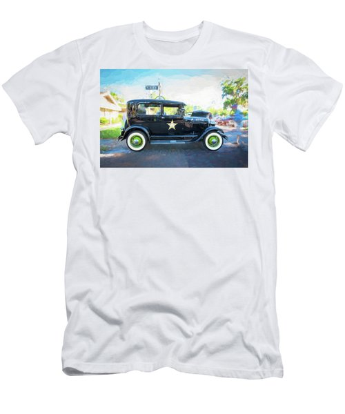 Men's T-Shirt (Slim Fit) featuring the photograph 1929 Ford Model A Tudor Police Sedan  by Rich Franco
