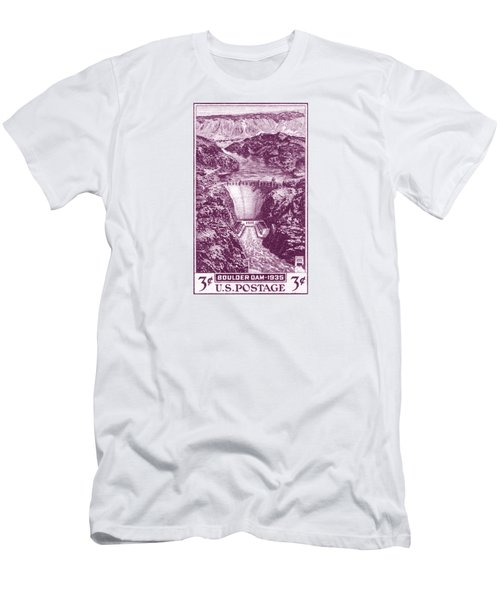 1935 Boulder Dam Stamp Men's T-Shirt (Athletic Fit)