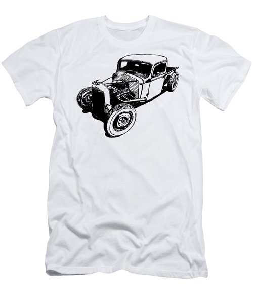 1937 Chevy Bobber Truck Hot Rod Tee Men's T-Shirt (Athletic Fit)