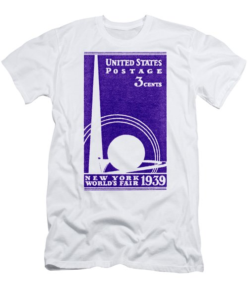 1939 New York Worlds Fair Stamp Men's T-Shirt (Athletic Fit)