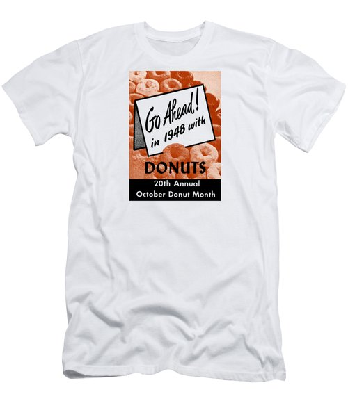 1948 Donut Poster Men's T-Shirt (Slim Fit) by Historic Image