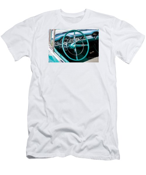 Men's T-Shirt (Slim Fit) featuring the photograph 1955 Chevrolet Bel Air by M G Whittingham