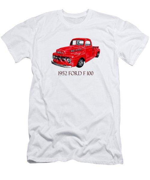 Big Red 1952 Ford F-100 Pick Up Men's T-Shirt (Slim Fit) by Jack Pumphrey