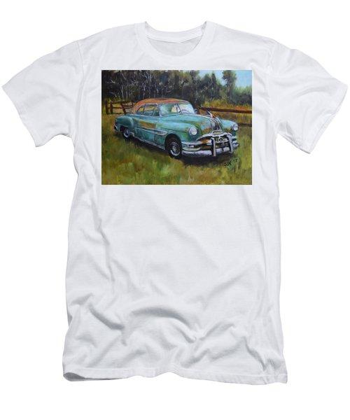 Men's T-Shirt (Slim Fit) featuring the painting 1952 Pontiac Chieftain  by Sandra Nardone