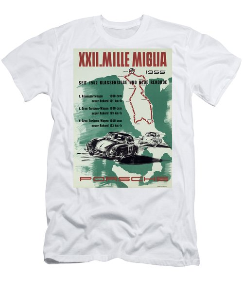 1955 Mille Miglia Porsche Poster Men's T-Shirt (Athletic Fit)