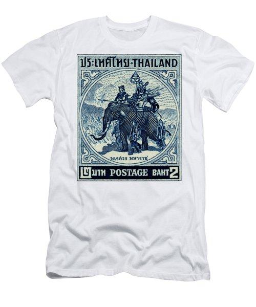 1955 Thailand War Elephant Stamp Men's T-Shirt (Athletic Fit)