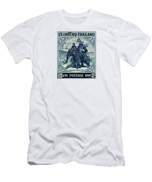 1955 Thailand War Elephant Stamp Men's T-Shirt (Athletic Fit)
