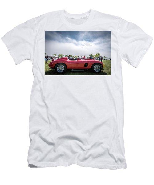Men's T-Shirt (Slim Fit) featuring the photograph 1956 Ferrari 290mm by Randy Scherkenbach