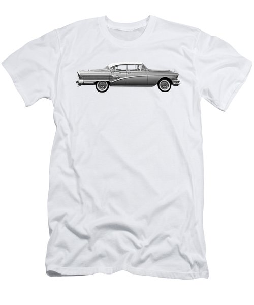 1958 Buick Roadmaster 75 In Black And White Men's T-Shirt (Athletic Fit)