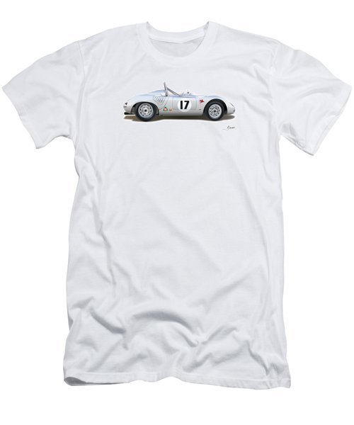 1959 Porsche Type 718 Rsk Spyder Men's T-Shirt (Slim Fit) by Alain Jamar