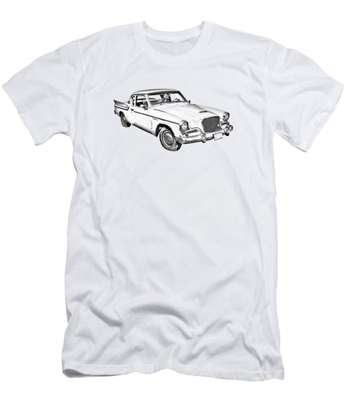 1961 Studebaker Hawk Coupe Illustration Men's T-Shirt (Athletic Fit)