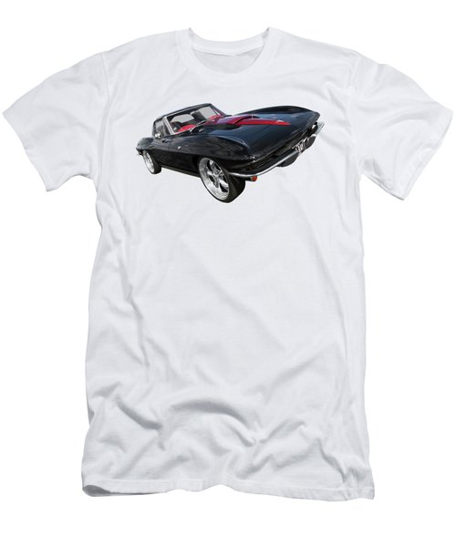 1963 Corvette Stingray Split Window In Black And Red Men's T-Shirt (Athletic Fit)