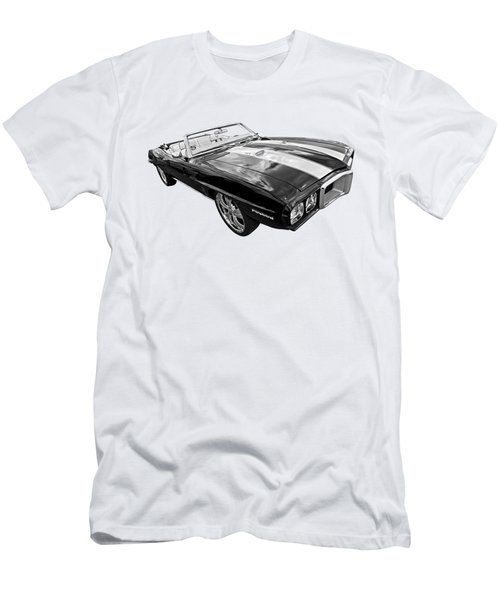 1969 Pontiac Firebird Convertible In Black And White Men's T-Shirt (Athletic Fit)