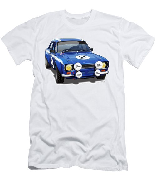1970 Ford Escort Mexico Illustration Men's T-Shirt (Athletic Fit)