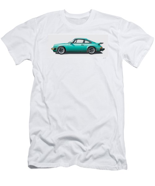 1976 Porsche Euro Carrera 2.7 Illustration Men's T-Shirt (Slim Fit) by Alain Jamar