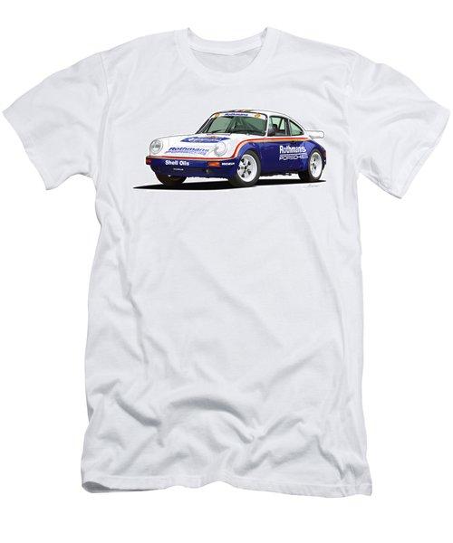 1984 Porsche 911 Sc Rs Illustration Men's T-Shirt (Slim Fit) by Alain Jamar