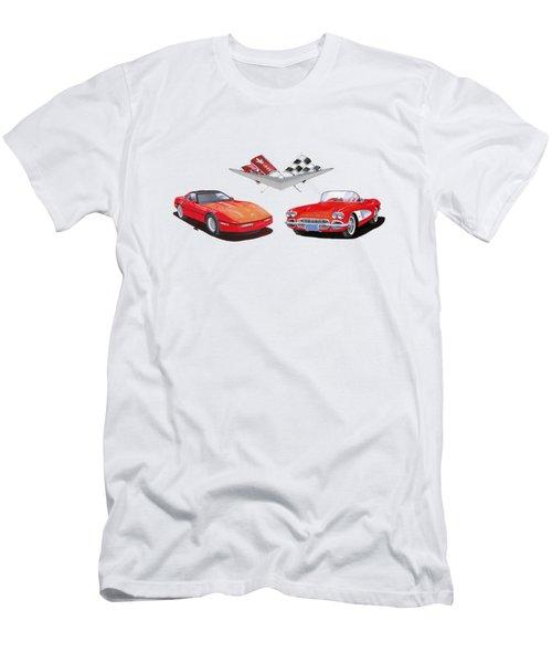 1986 And 1961 Corvettes Men's T-Shirt (Athletic Fit)
