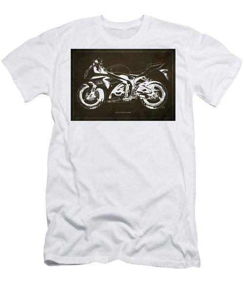 2012 Suzuki Gsx-r1000 Motorcycle Blueprint Art For Men's Cave Men's T-Shirt (Athletic Fit)