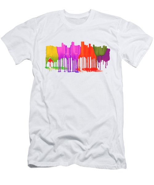 Anchorage Alaska Skyline Men's T-Shirt (Athletic Fit)