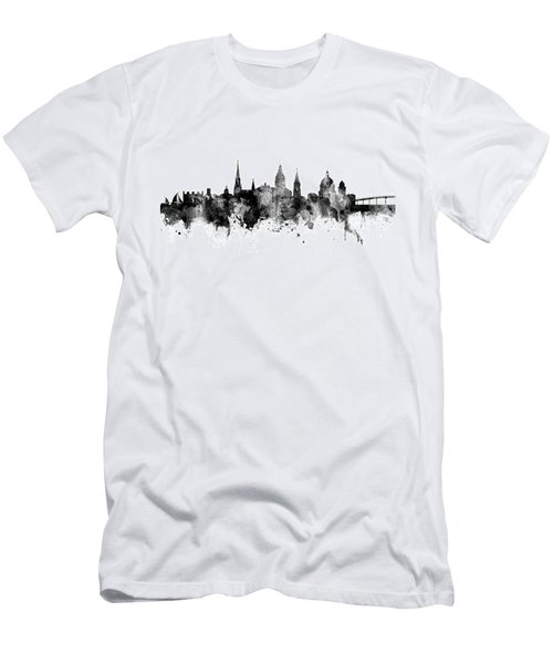 Men's T-Shirt (Slim Fit) featuring the digital art Annapolis Maryland Skyline by Michael Tompsett
