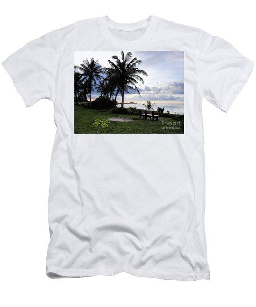 Asan Beach Guam Men's T-Shirt (Athletic Fit)