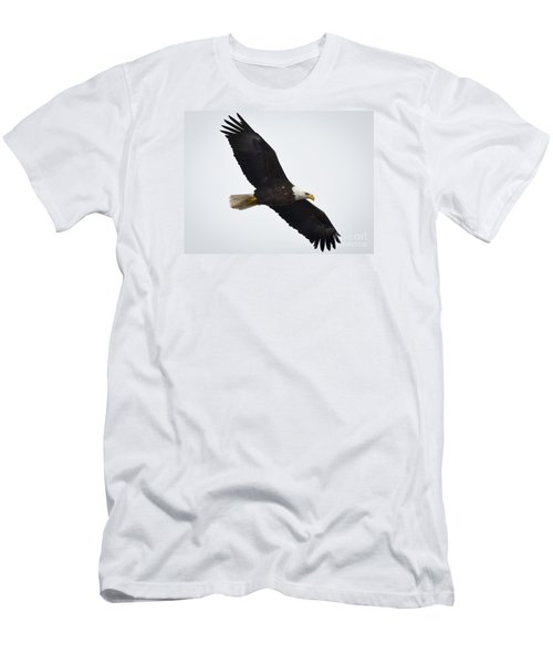 Men's T-Shirt (Slim Fit) featuring the photograph Bald Eagle by Ricky L Jones