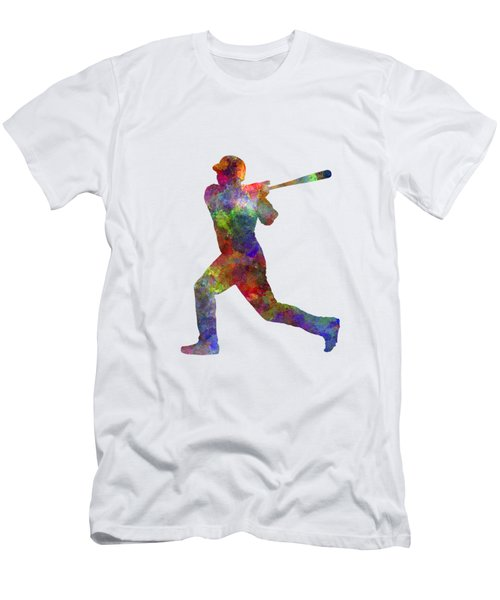 Baseball Player Hitting A Ball Men's T-Shirt (Slim Fit) by Pablo Romero