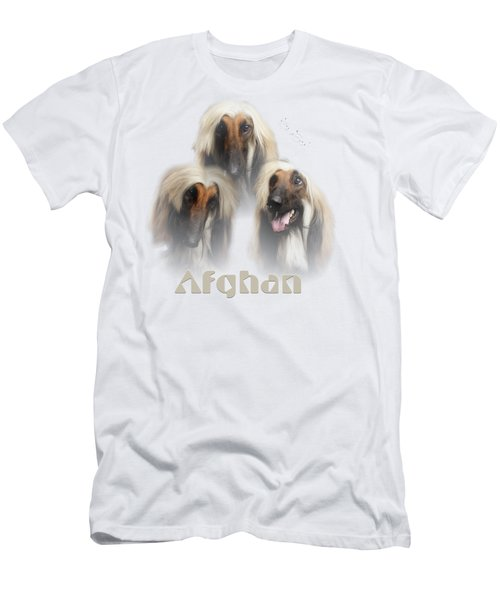 Beautiful Afghan Hound  Men's T-Shirt (Athletic Fit)