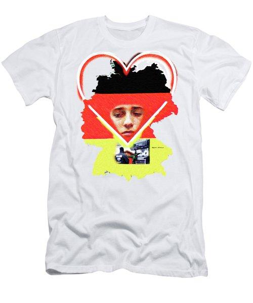 Berlin Christmas Market Men's T-Shirt (Slim Fit) by Rafael Salazar