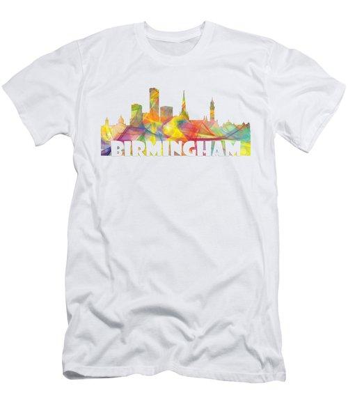 Birmingham England Skyline Men's T-Shirt (Athletic Fit)