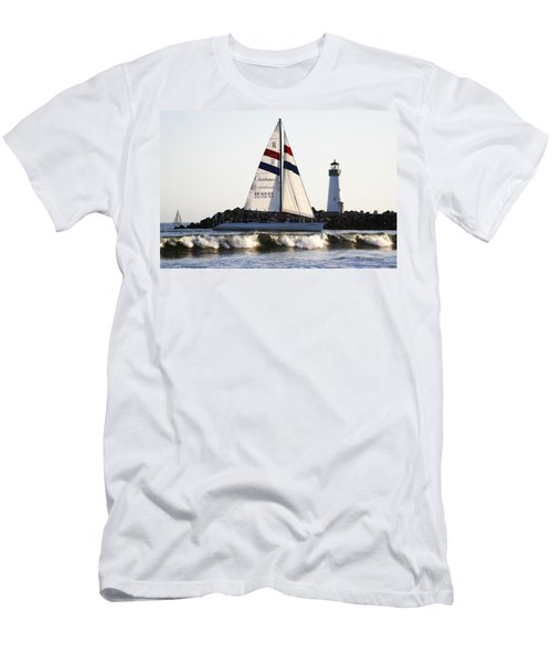 2 Boats Approach Men's T-Shirt (Athletic Fit)