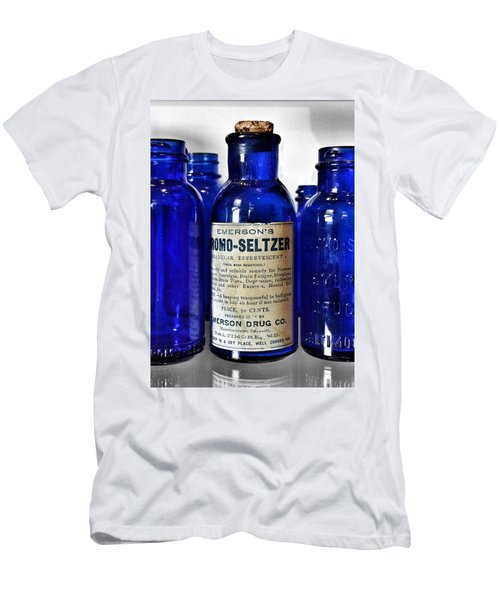 Bromo Seltzer Vintage Glass Bottles Collection Men's T-Shirt (Athletic Fit)