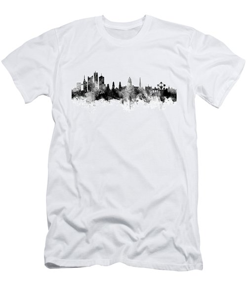 Brussels Belgium Skyline Men's T-Shirt (Athletic Fit)