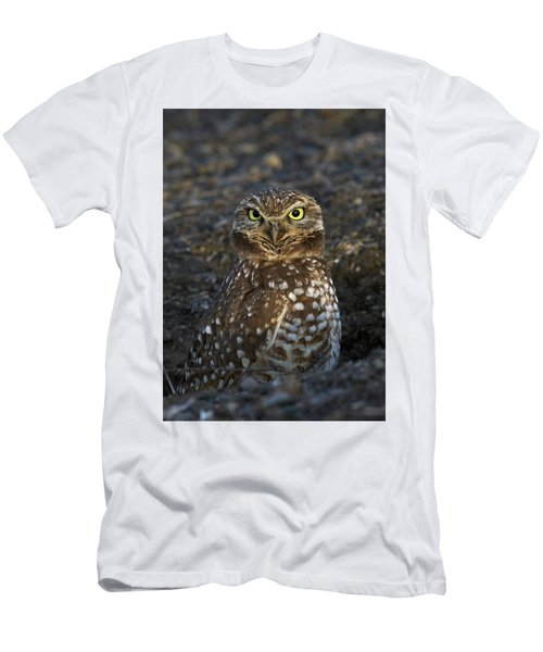 Men's T-Shirt (Slim Fit) featuring the photograph Burrowing Owl by Doug Herr