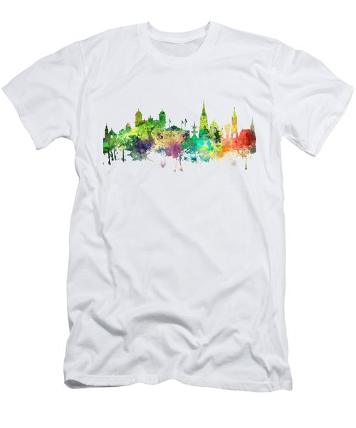 Christchurch Nz Skyline Men's T-Shirt (Slim Fit)