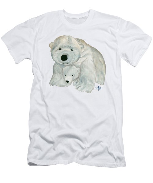 Cuddly Polar Bear Men's T-Shirt (Athletic Fit)